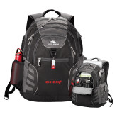 High Sierra Big Wig Black Compu Backpack-Chief - Primary Logo