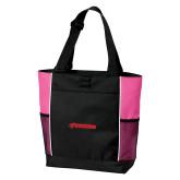 Black/Tropical Pink Panel Tote-BonnaVilla