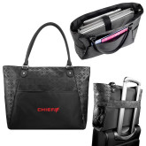 Sophia Checkpoint Friendly Black Compu Tote-Chief - Primary Logo