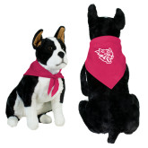 Fuchsia Pet Bandana-Wildcat Head