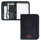 Insight Black Calculator Padfolio-Wildcat Head Chico State