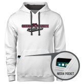 Contemporary Sofspun White Hoodie-Chico State Wildcats Flat Version