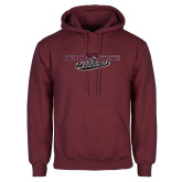 Maroon Fleece Hoodie-Chico State Wildcats Flat Version