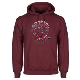 Maroon Fleece Hoodie-100 Years of Chico State Basketball