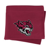 Maroon Sweatshirt Blanket-Wildcat Head