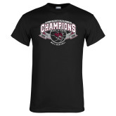 Black T Shirt-Back-to-Back CCAA Champions Mens Basketball