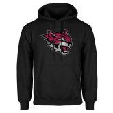Black Fleece Hoodie-Wildcat Head