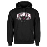 Black Fleece Hoodie-Back-to-Back CCAA Champions Mens Basketball