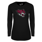 Ladies Syntrel Performance Black Longsleeve Shirt-Wildcat Head