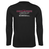 Performance Black Longsleeve Shirt-Baseball