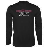 Performance Black Longsleeve Shirt-Softball
