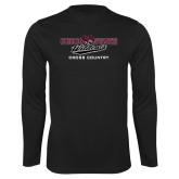 Performance Black Longsleeve Shirt-Cross Country