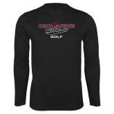 Syntrel Performance Black Longsleeve Shirt-Golf