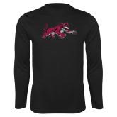 Performance Black Longsleeve Shirt-Wildcat Full Body