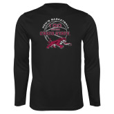 Performance Black Longsleeve Shirt-100 Years of Chico State Basketball