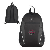 Atlas Black Computer Backpack-Wildcat Head Chico State