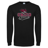 Black Long Sleeve TShirt-Wildcat Head Chico State
