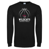 Black Long Sleeve T Shirt-Basketball Full Ball