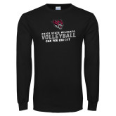 Black Long Sleeve T Shirt-Volleyball Can You Dig It