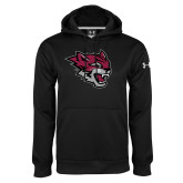 Under Armour Black Performance Sweats Team Hoodie-Wildcat Head