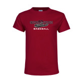 Youth Maroon T Shirt-Baseball