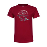 Youth Maroon T Shirt-100 Years of Chico State Basketball