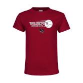 Youth Maroon T Shirt-Baseball Ball