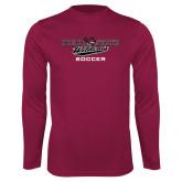 Performance Maroon Longsleeve Shirt-Soccer