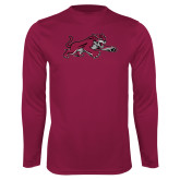 Performance Maroon Longsleeve Shirt-Wildcat Full Body
