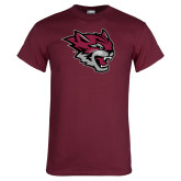 Maroon T Shirt-Wildcat Head