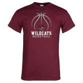 Maroon T Shirt-Basketball Full Ball