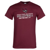 Maroon T Shirt-Volleyball Can You Dig It