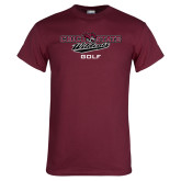 Maroon T Shirt-Golf