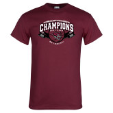Maroon T Shirt-Back-to-Back CCAA Champions Mens Basketball