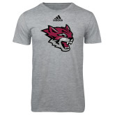 Adidas Sport Grey Logo T Shirt-Wildcat Head