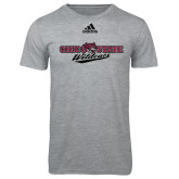 Adidas Sport Grey Logo T Shirt-Chico State Wildcats Flat Version