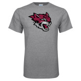 Grey T Shirt-Wildcat Head
