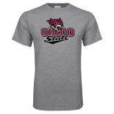 Grey T Shirt-Wildcat Head Chico State