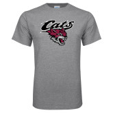 Grey T Shirt-Cats w/Wildcat Head