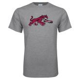 Grey T Shirt-Wildcat Full Body