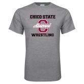 Grey T Shirt-Vintage Alumni Wrestling
