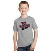 Youth Grey T-Shirt-Wildcat Head Chico State