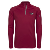 Under Armour Maroon Tech 1/4 Zip Performance Shirt-Wildcat Head