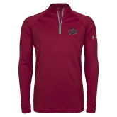 Under Armour Maroon Tech 1/4 Zip Performance Shirt-Wildcat Head Chico State