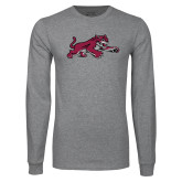 Grey Long Sleeve T Shirt-Wildcat Full Body