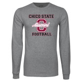 Grey Long Sleeve T Shirt-Vintage Alumni Football