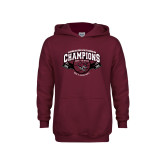 Youth Maroon Fleece Hoodie-Back-to-Back CCAA Champions Mens Basketball