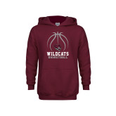 Youth Maroon Fleece Hoodie-Basketball Full Ball