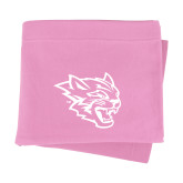 Pink Sweatshirt Blanket-Wildcat Head