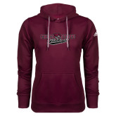 Adidas Climawarm Maroon Team Issue Hoodie-Chico State Wildcats Flat Version